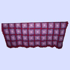 Lovely Hand Crafted Crochet Granny Square Blanket  Afghan Home Decor Accent