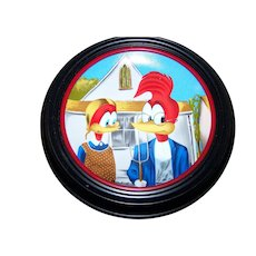 Happy Art  Gothic Woody Collector Plate  Holder Walter Lantz Woody Woodpecker