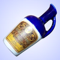 Miniature Advertising Glazed Stoneware French Dolfi Liquor Jug Mid-Century EMPTY
