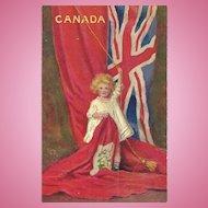 Vintage Souvenir Paper Postcard Post Card Featuring CANADA