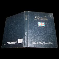 Vintage Hard Cover Book Beatles Easy To Play Speed Music C. 1981 Sound International Inc.