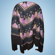 Beautiful Large Fringe Fringed Ethnic Tribal Shawl Wrap