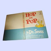 Children's Hard Cover Book By Dr. Seuss HOP on POP Illustrated  Beginner Books