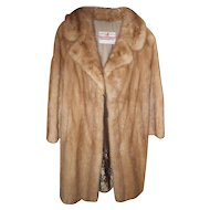 Stunning Vintage Mink Coat with Decorative Embroidered Lining Maritime Furriers Halifax Nova Scotia Canada