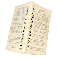 Vintage Paper Instructions Booklet Tarot of Marseilles  L'Art Du Tarot