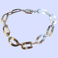 A Lovely Delicate Stamped 925 Linked Ladies Fashion Bracelet Sterling Silver