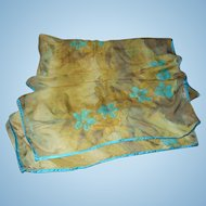 Vintage  Bernie of New York Long Rectangular  Sheer Silk Chiffon Fashion Scarf