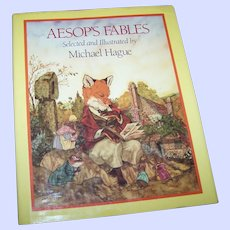 """Lovely Vintage Hard Cover Book """" AESOP'S FABLES """" Selected and Illustrated by Michael Hague"""