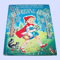 Two-In-One Wonder Book Three Little Pigs and Little Red Riding Hood