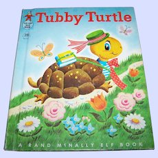 Charming Vintage Hard Cover Children's Book Tubby Turtle by  Helen Wing
