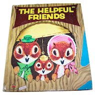 "Children's Wonder Book "" The Helpful Friends "" Charming Illustrations"