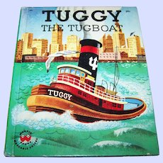 Tuggy The Tugboat Wonder Hard Cover Children's Illustrated Book #696
