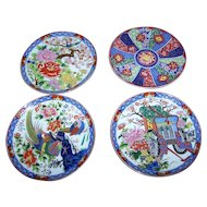 4 Imari Style Small Decorative Home Decor Wall Art  Ceramic Plates JAPAN