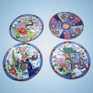 4 Imari Style Small Decorative Home Decor Wall Art  Ceramic Plates JAPAN