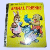 "A Little Golden Book by Jane Werner "" Animal Friends "" Charming Illustrations"