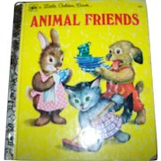 """A Little Golden Book by Jane Werner """" Animal Friends """" Charming Illustrations"""