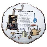 Charming Vintage Ceramic Home  Decor Wall Hanging Plate Kitchen Prayer