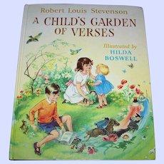 Robert Louis Stevenson A Child's Garden Of Verses Illustrated by Hilda Boswell Children's Book