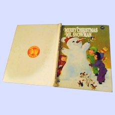 "Children's Hard Cover Book "" Merry Christmas  Mr. Snowman """