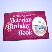 """Charming Hard Cover Book """" The Victorian Birthday Book """" Great for a Gift for your Loved One"""
