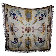 Home Decor Textile Fringed Woven Embroidered Small Table Cloth Spanish Flamenco Dancers