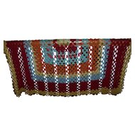 Lovely Vintage Hand Crochet Cover Throw Blanket Home Decor Accent