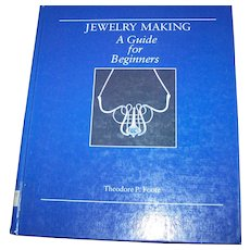 """Vintage Hard Cover Ex School Library Book """" Jewelry Making """" A Guide for Beginners Theodore P. Foote"""