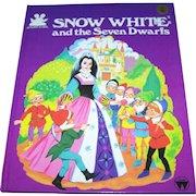 "Over Sized Hard Cover Children's Illustrated Hard Cover Book "" Snow White & Seven Dwarfs"""
