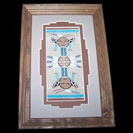 Authentic Native American  Navajo Sand Painting Artist Glen Nez