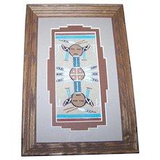 Authentic Native American  Navajo Sand Painting Artist Glen Nez