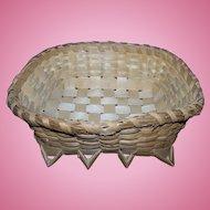 Native Mi'kmaq MicMac  Hand Woven Basket Wonderful For Display