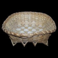 Native Mi'kmaq MicMac  Hand Woven Basket Wonderful For Display