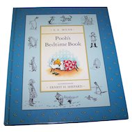 "Charming Hard Cover Children's Book "" Pooh's Bedtime Book "" A. A. Milne"