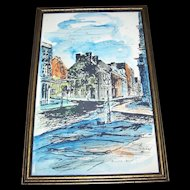"Wall Art Decorative Home Decor Framed Print "" Maison Calvet "" Gimard Vieux Montreal Q"