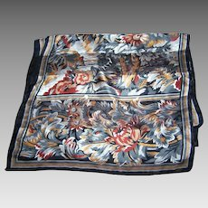 Lovely Long Delicate Rectangular Floral Pattern Sheer Paneled Ladies Fashion Scarf