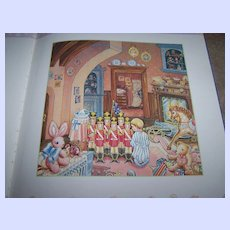 A Vintage Collectible Book Lynn Hollyn's Christmas Toyland C. 1985 Paintings by Lori Anzalone