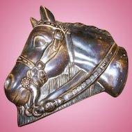 Vintage Decorative Ceramic Realistic Horse Head Plaque