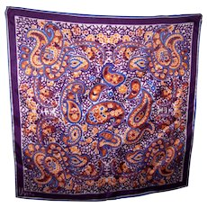 Designer Signed  Scarves by Vera ( Neumann ) Paisley Floral Print Ladies Fashion Scarf
