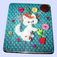 Advertising  Tin Litho Kitsch  Gray Dunn England  Kitten Assorted Biscuit Cookie Tin Box