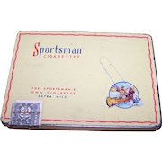 Vintage Collectible Advertising  Metal Tin Box SPORTSMAN  Flat 50 Cigarettes CARRERA'S LTD Canada