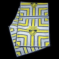Vintage Rectangular Scarf West Point Class of 45 Frankie Welch  Alexandra Virginia  100 % Polyester