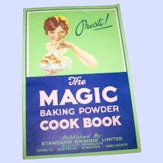 Presto The Magic Baking Powder Advertising  Cook Book Paper Back