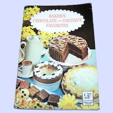 Advertising Baker's Chocolate and Coconut Favorites Paper Back Cook Book Illustrated