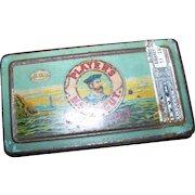 Vintage Tin Litho Advertising Box  50 Players Navy Cut Cigarettes Tobacciana Collectible