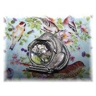 Vintage J.J. Jonette Kitty Cat Fish Bowl Pin / Brooch