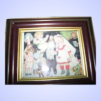 Sweet Framed Vintage The Little Delineator June 1923 Better Homes for Dolls