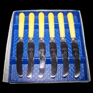Mid Century Dinkee Knife Mini Spreader Set in Box  Made in Canada