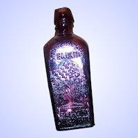 Purple Amethyst  Glass Bitters Miniature Bottle Wheatons Tree of Life
