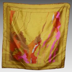 Colorful Abstract PoP Art Style Fashion Scarf Wearable ART or Framed as Wall Art Home Decor