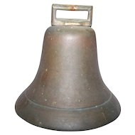 Vintage Brass Metalware Cow Boat Bell Sounds Wonderful Original Clapper